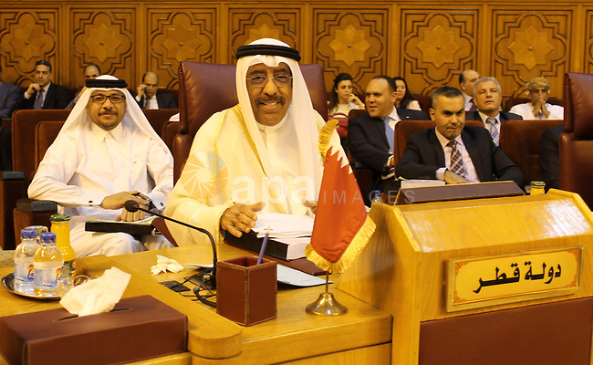 Permanent members of Arab countries in League of Arab States attend a meeting at the Arab League headquarters in Cairo, Egypt, on Sep. 06, 2016. Photo by Stranger