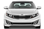 Straight front view of a 2013 Kia Optima SXL