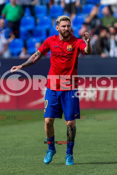 FC Barcelona's Leo Messi during the match of La Liga between Club Deportivo Leganes and Futbol Club Barcelona at Butarque Estadium in Leganes. September 17, 2016. (ALTERPHOTOS/Rodrigo Jimenez) /NORTEPHOTO