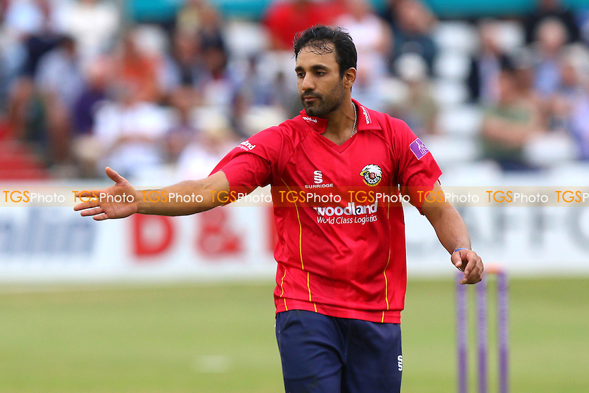 Ravi Bopara of Essex celebrates taking the wicket of Graham Wagg during Essex Eagles vs Glamorgan, Royal London One-Day Cup Cricket at the Essex County Ground on 26th July 2016