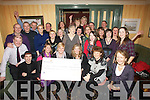CHEQUE: Cast members of Spa/Churchill Drama group who presented a cheque of EUR4,000 to the Kerry Hospice Foundation on Friday night at the Oyster Tavern,..... ....
