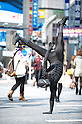 October 31, 2012, Tokyo, Japan - Japanese man wears the costume of Black Spiderman for Halloween in Shibuya district, Tokyo. (Photo by Yumeto Yamazaki/AFLO)