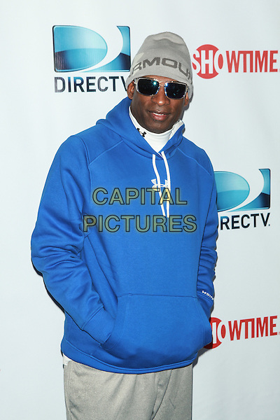 NEW YORK, NY - FEBRUARY 1: Deion Sanders attends the DirecTV Beach Bowl at Pier 40 on February 1, 2014 in New York City. <br /> CAP/MPI/COR<br /> &copy;Corredor99/ MediaPunch/Capital Pictures