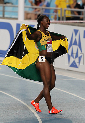 02.09.2011. Daegu, South Korea.   Veronica Campbell Brown of Jamaica Celebrates After Winning the womens 200 meters Final AT The IAAF World Championships Daegu 2011