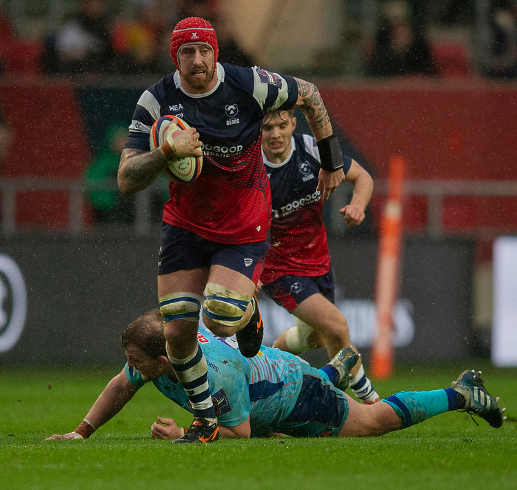 Bristol Bears' Aly Muldowney in action during todays match<br /> <br /> Photographer Bob Bradford/CameraSport<br /> <br /> Premiership Rugby Cup Round 4 - Bristol Bears v Exeter Chiefs - Saturday 26th January 2019 - Ashton Gate - Bristol<br /> <br /> World Copyright © 2018 CameraSport. All rights reserved. 43 Linden Ave. Countesthorpe. Leicester. England. LE8 5PG - Tel: +44 (0) 116 277 4147 - admin@camerasport.com - www.camerasport.com