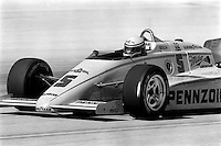 WEST ALLIS, WI - JUNE 2: Rick Mears drives his March 85C/Cosworth in the Miller American 200 CART IndyCar race at the Milwaukee Mile oval track in West Allis, Wisconsin, on June 2, 1985.