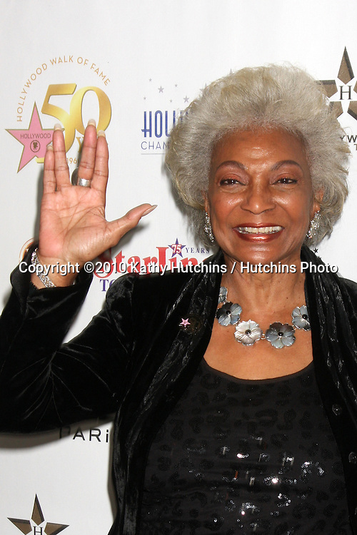LOS ANGELES - NOV 3:  Nichelle Nichols arrives at the Hollywood Walk of Fame 50th Anniversary Celebration at Hollywood & Highland on November 3, 2010 in Los Angeles, CA