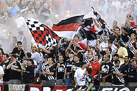 US Open Cup Quarterfinal, DC United fans. DC United defeated the New York Red Bulls 3-1, Wednesday, August 23, 2006 at RFK Stadium.