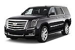 2017 Cadillac Escalade Luxury 5 Door SUV Angular Front stock photos of front three quarter view