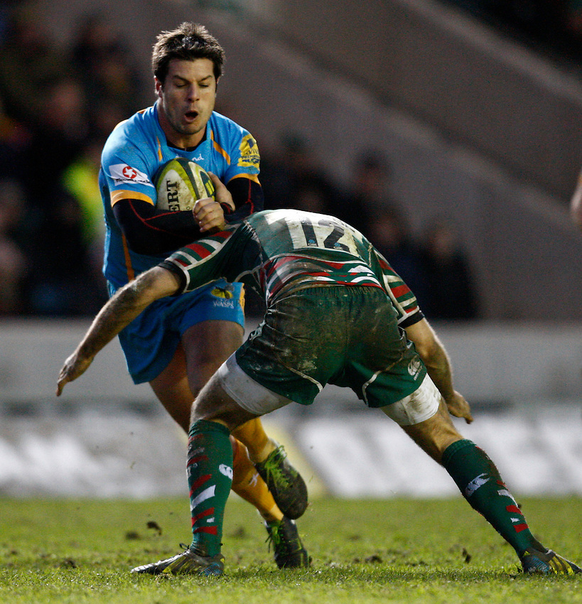 Photo: Richard Lane/Richard Lane Photography. Leicester Tigers v London Wasps. LV= Cup. 26/01/2013. Wasps' Hugo Southwell.