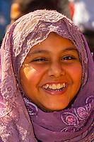 Egyptian girl outside the Egyptian Museum, Cairo, Egypt