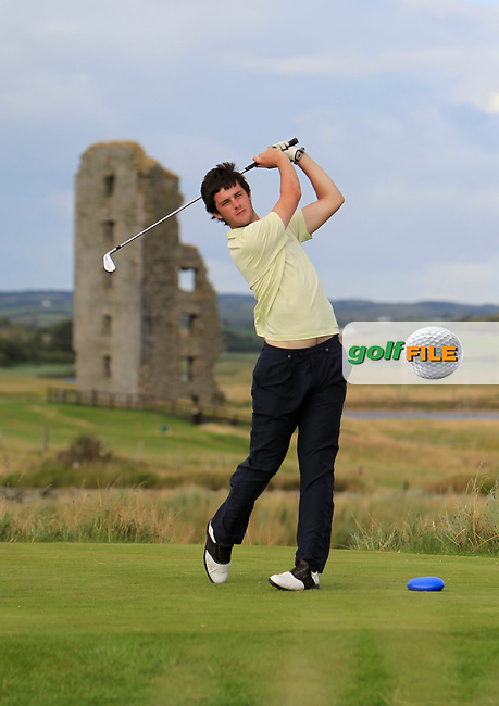 Jack Leacy (Dungarvan) on the 13th tee during the South of Ireland Amateur Open Championship 4th Round at Lahinch Golf Club  29th July 2013 <br /> Picture:  Thos Caffrey / www.golffile.ie