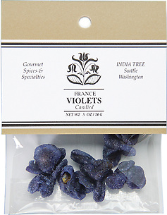 20301 Candied Whole Violets, Caravan 0.5 oz
