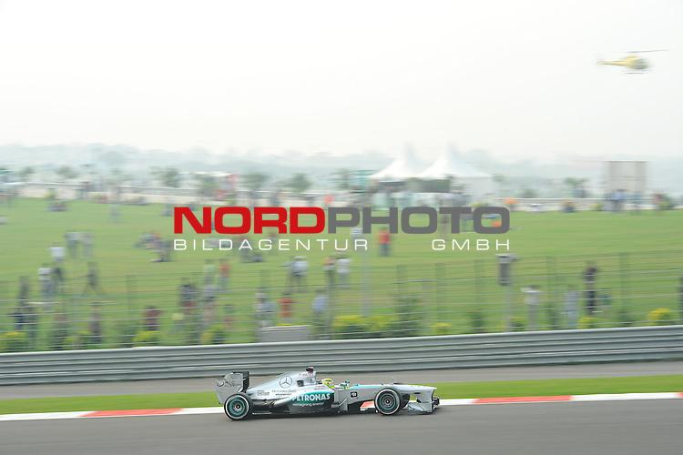 25.-27-10-2013, Jaypee-Circuit, Noida, IND, F1, Grosser Preis von Indien, Noida, im Bild Nico Rosberg (GER), Mercedes GP <br />  Foto &copy; nph / Mathis