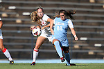 30 August 2013: North Carolina's Alexa Newfield (88) and New Mexico's Alexis Leyba (8). The University of North Carolina Tar Heels hosted the University of New Mexico Lobos at Fetzer Field in Chapel Hill, NC in a 2013 NCAA Division I Women's Soccer match. UNC won the game 2-1.