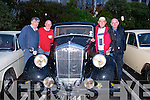 About to take part in the Kingdom Vintage, Veteran & Classic car club annual Autumn run based in the Kenmare Bay hotel last Saturday morning were L-R Ger McElligott (Ballyduff) Chris Dyre (Tralee) Tom Mason (Lisselton) and Mike O'Connor (Tralee)