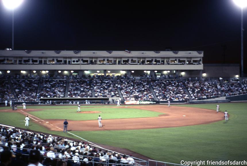 Ballparks: Sacramento Raley Field--night game.