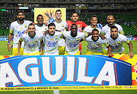PALMIRA-COLOMBIA-27-04-2018: Los jugadores de Atlético Bucaramanga, posan para una foto, durante partido entre Deportivo Cali y Atlético Bucaramanga, de la fecha 18 por la liga Aguila I 2018, jugado en el estadio Deportivo Cali (Palmaseca) en la ciudad de Palmira. / The players of Atletico Bucaramanga, pose for a photo, during a match between Deportivo Cali and Atletico Bucaramanga, of the 18th date for the Liga Aguila I 2018, at the Deportivo Cali (Palmaseca) stadium in Palmira city. Photo: VizzorImage  / Nelson Rios / Cont.