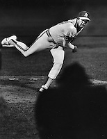 Oakland Athletics pitcher Steve McCatty.(1981 photo by Ron Riesterer)