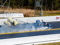 Mar 18, 2018; Gainesville, FL, USA; NHRA funny car driver Robert Hight explodes the engine of his car during the Gatornationals at Gainesville Raceway. Mandatory Credit: Mark J. Rebilas-USA TODAY Sports