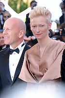 "Tilda Swinton and Bruce Willis  attending the ""Moonrise Kingdom"" Premiere during the 65th annual International Cannes Film Festival in , 16th May 2012...Credit: Timm/face to face /MediaPunch Inc. ***FOR USA ONLY***"