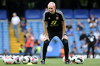 Sheffield United Assistant Manager, Alan Knill ahead of kick-off during Chelsea vs Sheffield United, Premier League Football at Stamford Bridge on 31st August 2019