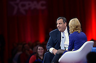 National Harbor, MD - February 26, 2015: Gov. Chris Christie of New Jersey speaks to attendees of the Conservative Political Action Conference (CPAC) at National Harbor, MD.  (Photo by Don Baxter/Media Images International)