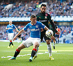Fraser Aird of Rangers with Rory McKeown of Raith