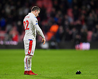Xherdan Shaqiri of Stoke City theows his gloves on the floor in frustration at the final whistle during AFC Bournemouth vs Stoke City, Premier League Football at the Vitality Stadium on 3rd February 2018