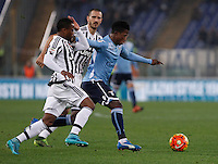 Calcio, Serie A: Lazio vs Juventus. Roma, stadio Olimpico, 4 dicembre 2015.<br /> Lazio's Keita Balde Diao, right, is challenged by Juventus' Kwadwo Asamoah during the Italian Serie A football match between Lazio and Juventus at Rome's Olympic stadium, 4 December 2015.<br /> UPDATE IMAGES PRESS/Isabella Bonotto