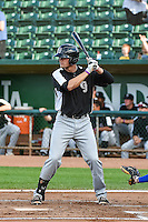 Collin Ferguson (22) of the Grand Junction Rockies at bat against the Ogden Raptors in Pioneer League action at Lindquist Field on September 3, 2015 in Ogden, Utah. Grand Junction defeated Ogden 16-8.  (Stephen Smith/Four Seam Images)