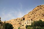 Judean Desert, Greek Orthodox St. George of Koziba Monastery on the slope of Wadi Qelt