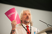 Tosh McDonald ASLEF.  Labour Party Special Conference on reform of its links to trade unions, ExCel Centre, London.