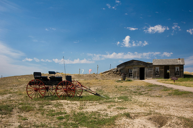 Prairie Homestead National Monument is a well-preserved sod house kept in good condition to remind us just how great were the privations of the early Euro-Americans who displaced the Indian tenants of the Badlands country.