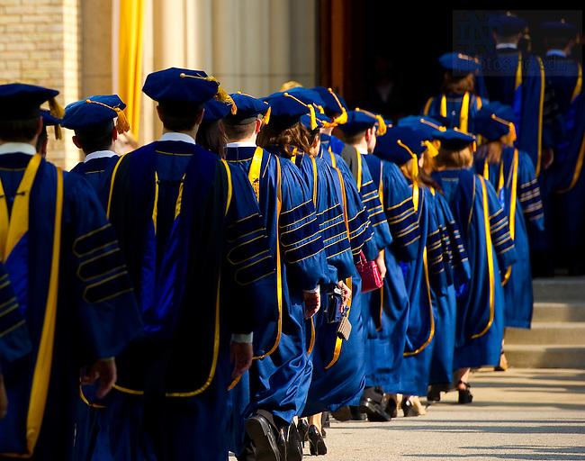May 21, 2011; Law School graduates enter the Basilica for the Law School prayer service...Photo by Matt Cashore/University of Notre Dame