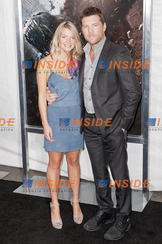 "Crystal Humphries e Sam Worthington..Anteprima di ""La Furia dei Titani"".. ""Wrath of the Titans""..AMC Lincoln Square Theater..26/03/2012, New York..Foto Insidefoto / Marco Sagliocco....Only Italy"