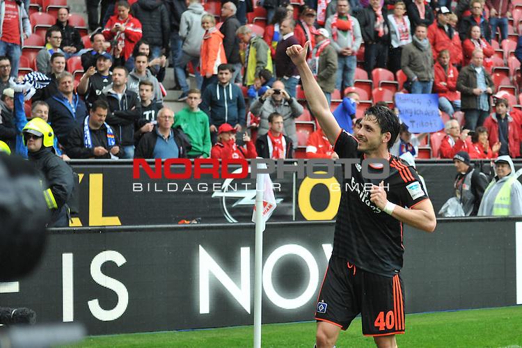 03.05.2015, cofacearena, Mainz, GER, FSV Mainz 05 vs. Hamburger SV, im Bild: Jubel bei Gojko Kacar (#40, Hamburger SV)<br /> <br /> Foto &copy; nordphoto / Fabisch