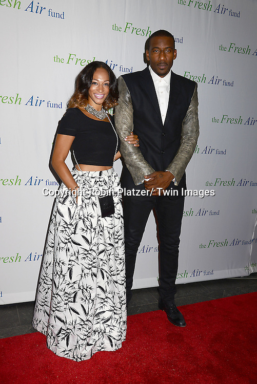 Alexis and Amar'e Stoudemire attends The Fresh Air Fund Salute to Mariah Carey on May 29, 2014 at Pier Sixty at Chelsea Piers in New York, New York, USA.