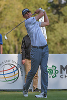 Brendan Steele (USA) watches his tee shot on 18 during round 3 of the World Golf Championships, Mexico, Club De Golf Chapultepec, Mexico City, Mexico. 3/3/2018.<br /> Picture: Golffile | Ken Murray<br /> <br /> <br /> All photo usage must carry mandatory copyright credit (&copy; Golffile | Ken Murray)