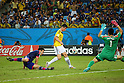 (L to R) <br /> Maya Yoshida (JPN), <br /> James Rodriguez (COL), <br /> Eiji Kawashima (JPN), <br /> JUNE 24, 2014 - Football /Soccer : <br /> 2014 FIFA World Cup Brazil <br /> Group Match -Group C- <br /> between Japan 1-4 Colombia <br /> at Arena Pantanal, Cuiaba, Brazil. <br /> (Photo by YUTAKA/AFLO SPORT)