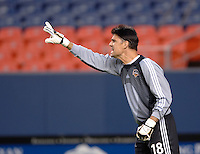 Houston Dynamo goalkeeper Pat Onstad recorded a shutout, collecting three saves for the game. The Houston Dynamo beat the Colorado Rapids 1-0 on a goal by Brian Ching, April 29, 2006, at Invesco Field at Mile High Stadium in Denver, Colorado.