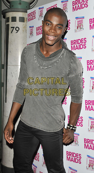 "Anthony 'BB' Kaye.The ""Bridesmaids"" dvd launch party, Merah nightclub, Wells St., London, England..November 8th, 2011.half length grey gray top.CAP/CAN.©Can Nguyen/Capital Pictures."
