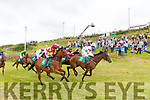 Action from the Iveragh Plate at the Cahersiveen Races on Sunday.
