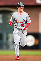 19 April 2007: Cardinals' starting pitcher Kip Wells runs the bases during the San Francisco Giants 6-2 victory over the St. Louis Cardinals at the AT&T stadium in San Francisco, CA.