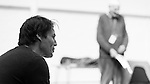 """King Lear"" rehearsed reading rehearsals. Old Vic Theatre. Director: Jonathan Miller. Tarn Williams."