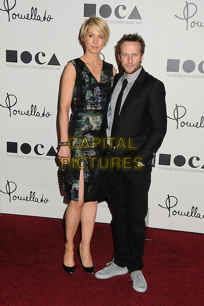 Jenna Elfman & Bodhi Elfman.Pomellato Celebrates Rodeo Drive Boutique Opening Hosted By Tilda Swinton, Benefiting MOCA held at Pomellato Boutique, Beverly Hills, California, USA..January 30th, 2012.full length dress slit split black sleeveless green print suit grey gray shirt tall short married husband wife .CAP/ADM/BP.©Byron Purvis/AdMedia/Capital Pictures.