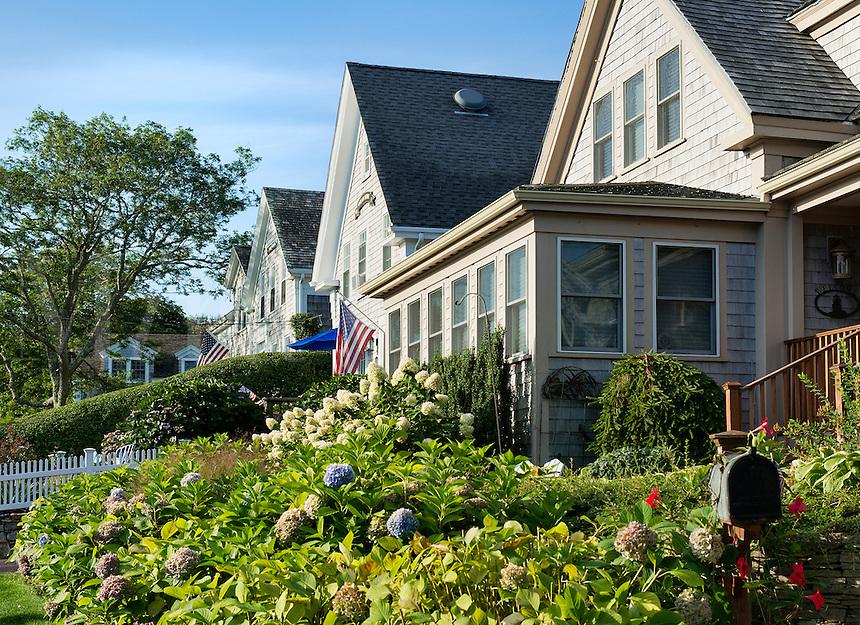 Quaint Chatham houses, Cape Cod, Massachusetts, USA