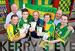 Kerry's Eye All Ireland Ticket winners From left:  Danny Brosnan, Castlemaine, Cathal O'Donoghue, Cordal, Michael O'Callaghan, Tralee, Emma O'Connor, Headford Killarney and Patricia Lynch, Moyvane also in photo are Andrew Roche, Business Development Manager Irish Rail and Brendan Kennelly, Kerry's Eye.