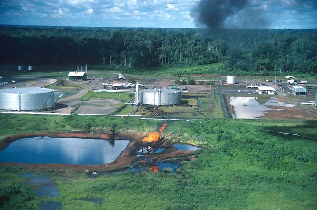 Aerial, Oil Operation, Texaco and Ecuador