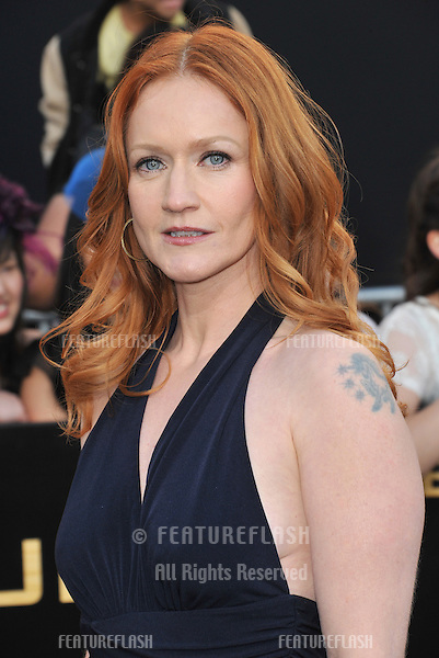 "Paula Malcomson at the world premiere of ""The Hunger Games"" at the Nokia Theatre L.A. Live..March 12, 2012  Los Angeles, CA.Picture: Paul Smith / Featureflash"
